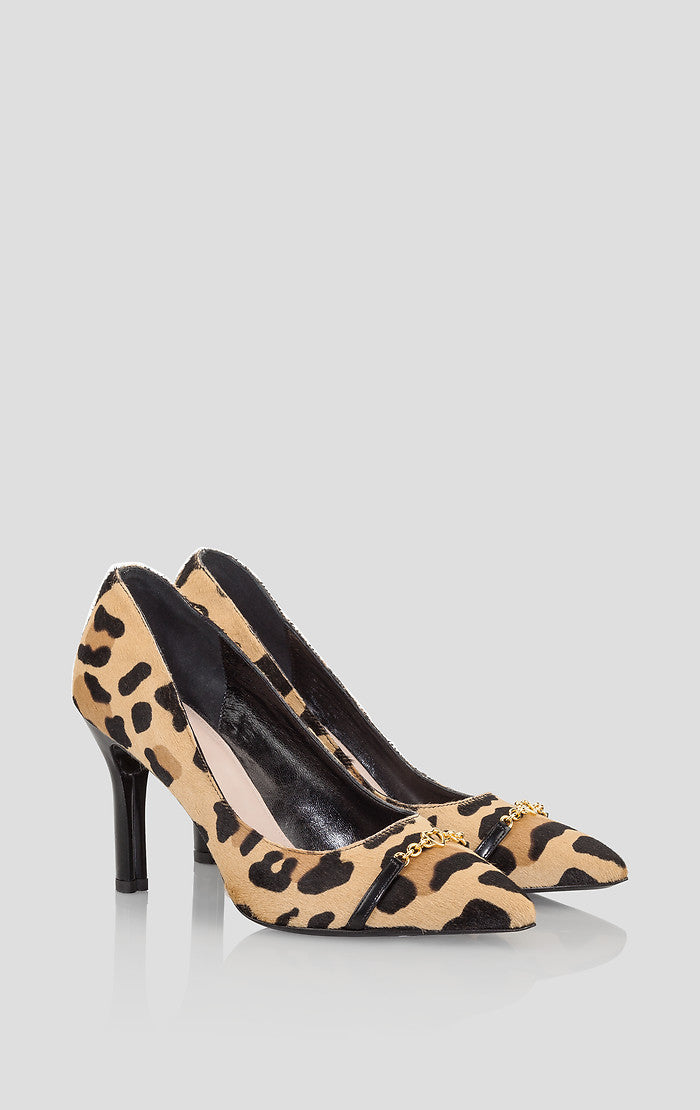 Leopard Print Calf Hair Pumps - ESCADA