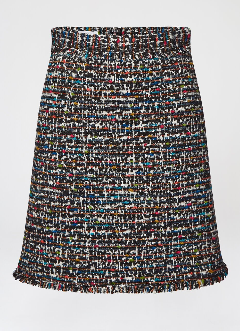 Rich Multicolor Tweed Skirt - ESCADA