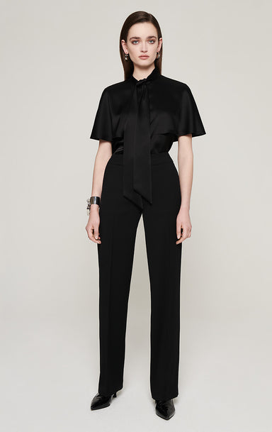 ESCADA Wool Twill Straight Pants