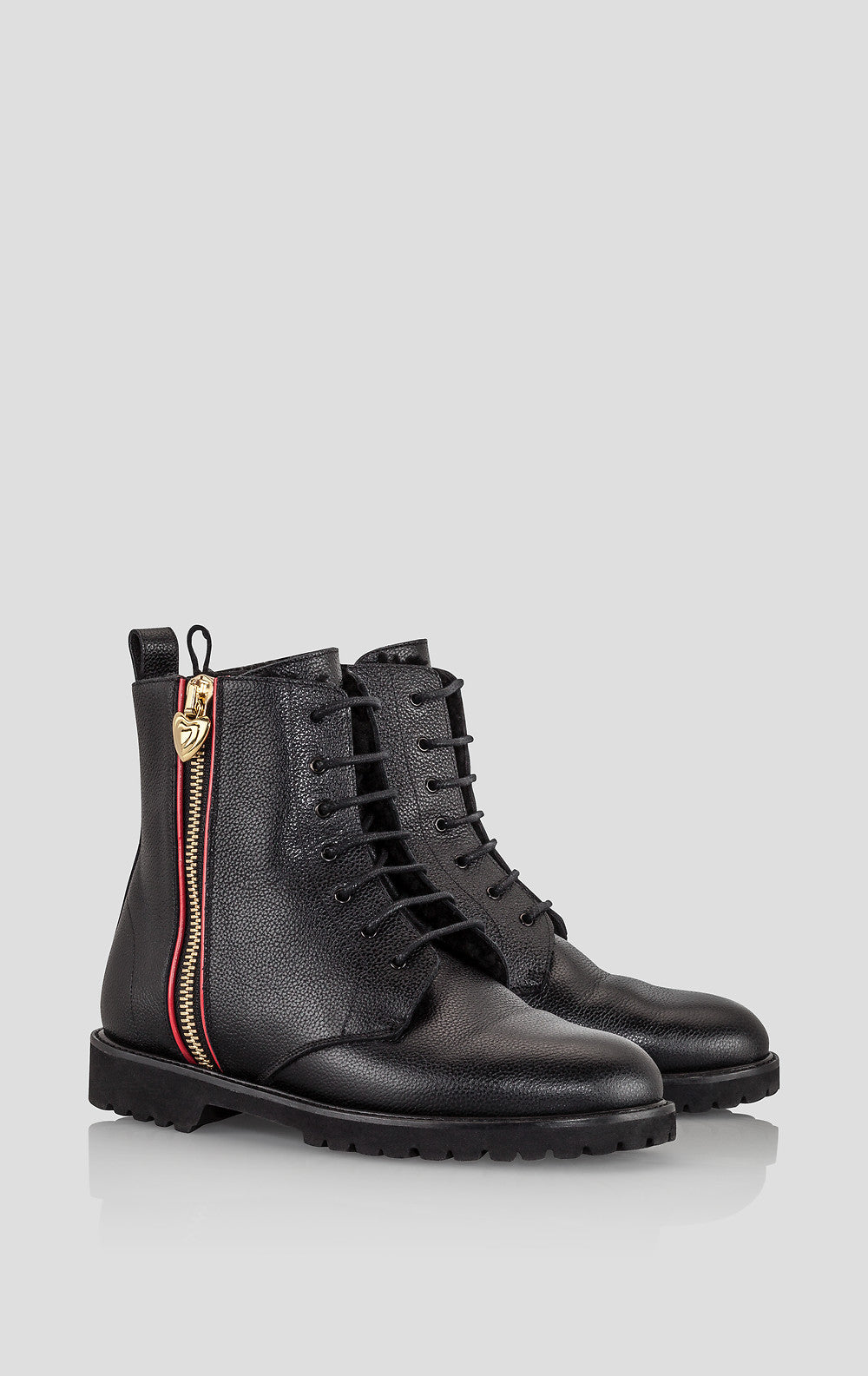Leather Lace-Up Ankle Boots - ESCADA