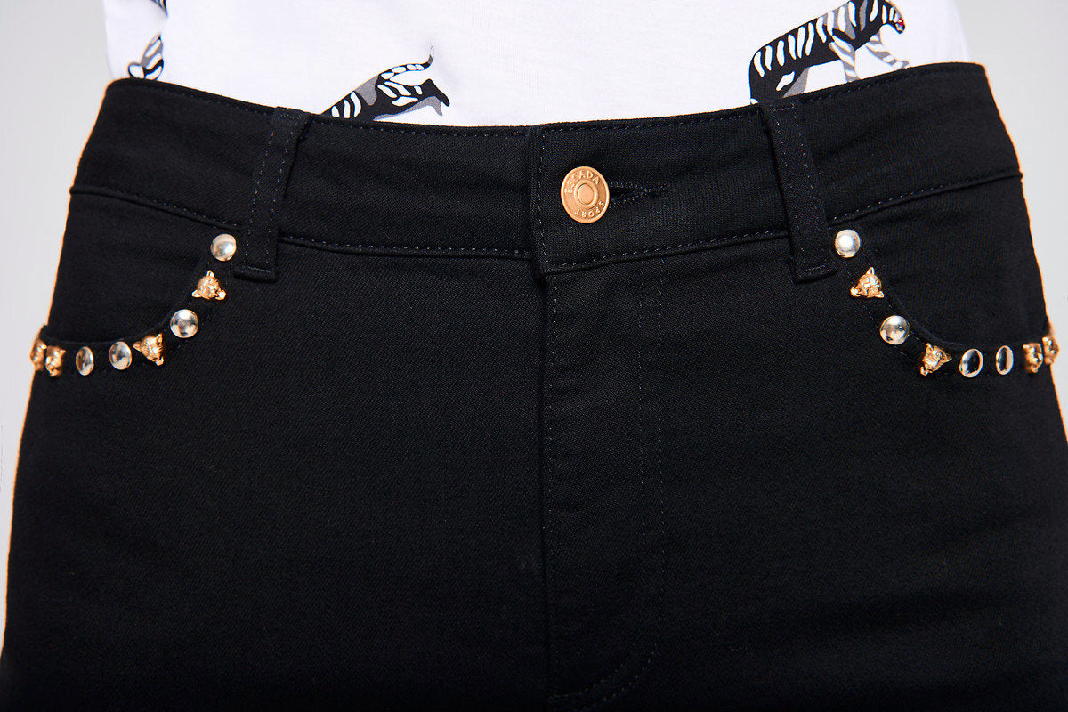Rivet-Embellished Jeans - ESCADA