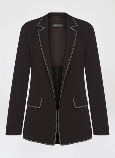 Casual blazer with contrast stitching - ESCADA