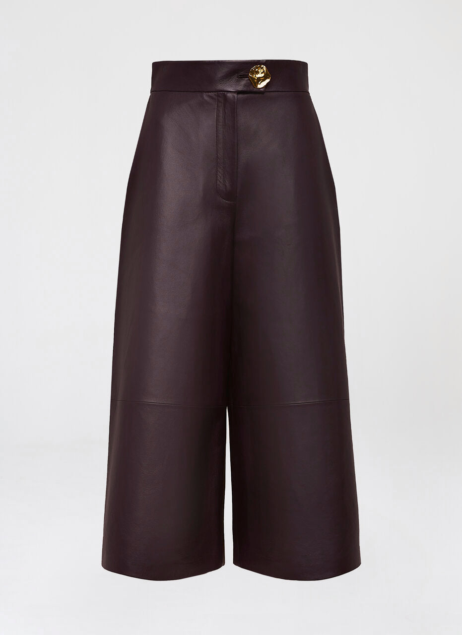Fashionable leather culotte - ESCADA