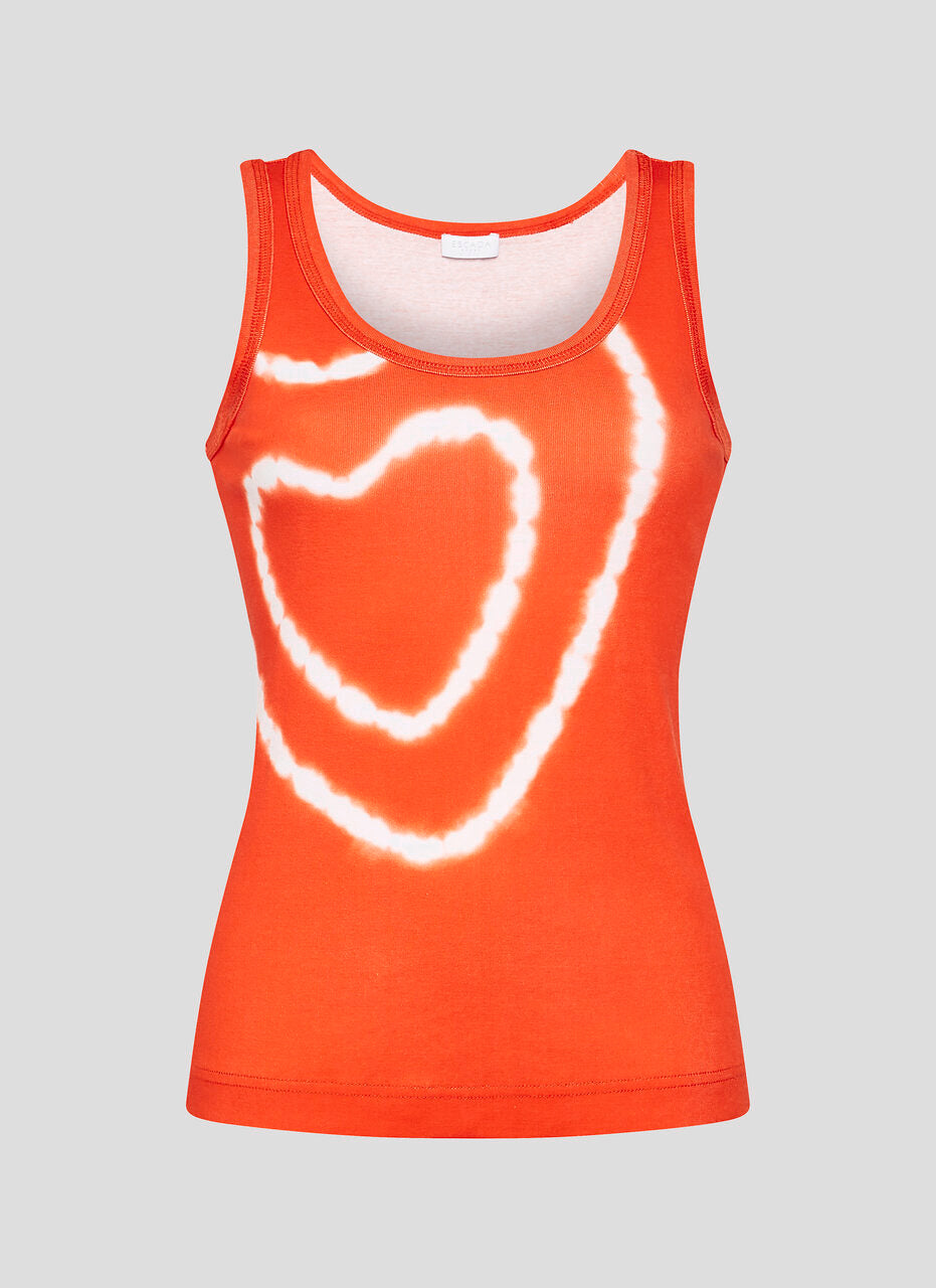 Tie-Dye Heart Tank Top - ESCADA
