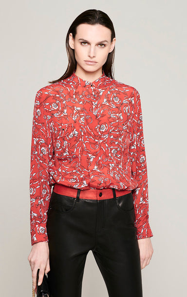 ESCADA Silk Blend Printed Blouse