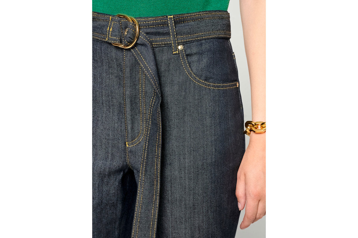 Belted Straight Jeans - ESCADA