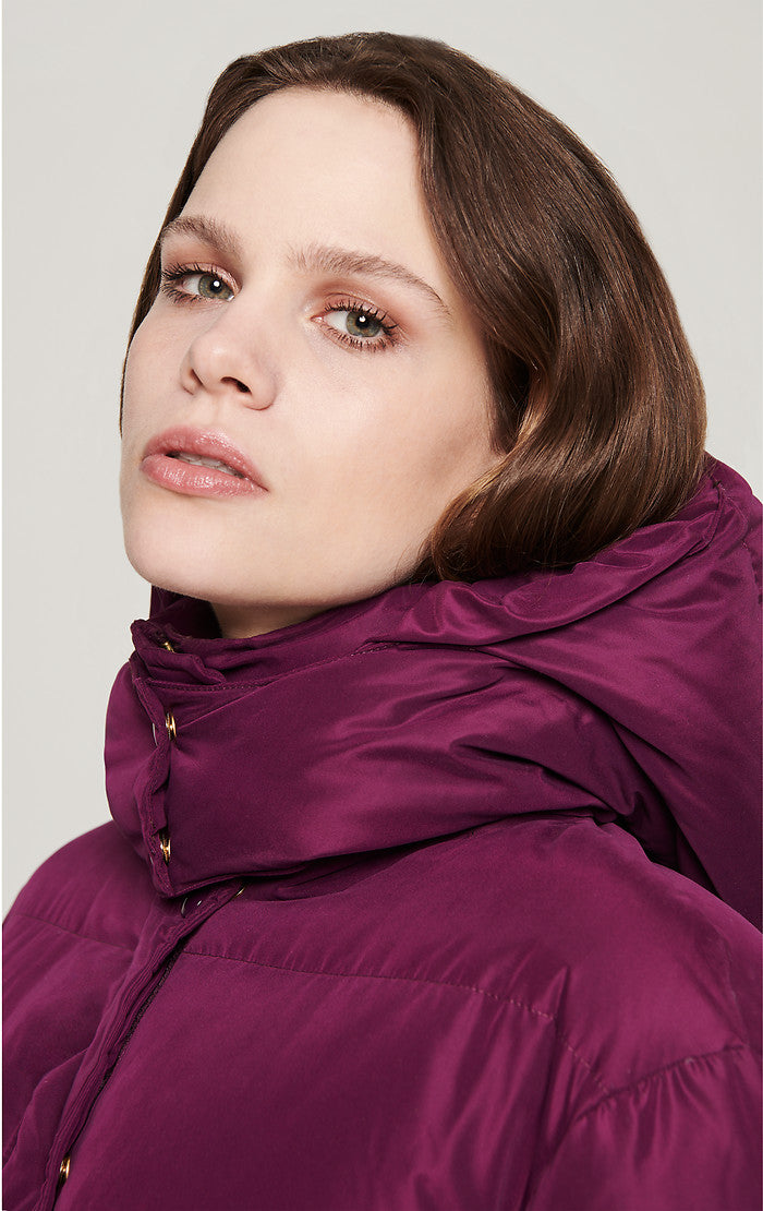 ESCADA Color Block Down Puffer Coat