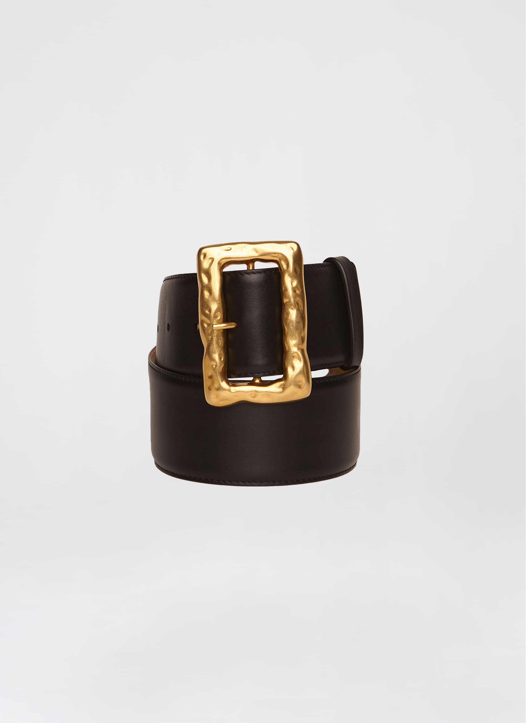 Signature waist belt with hammered buckle - ESCADA
