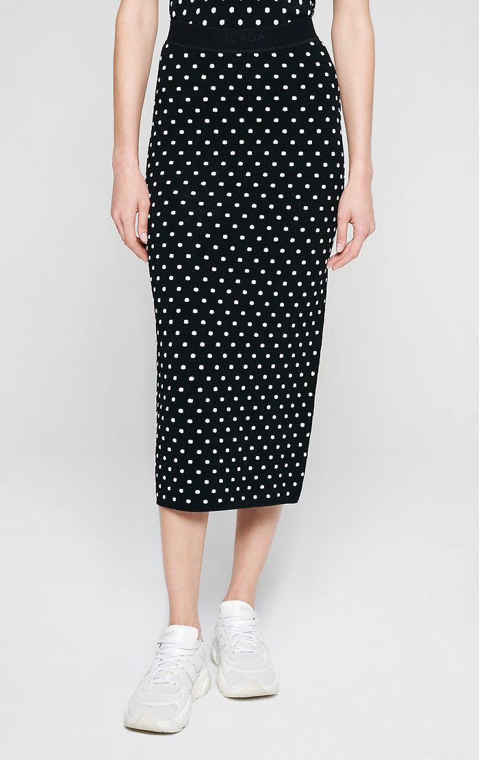 ESCADA Polka Dot Jacquard Skirt