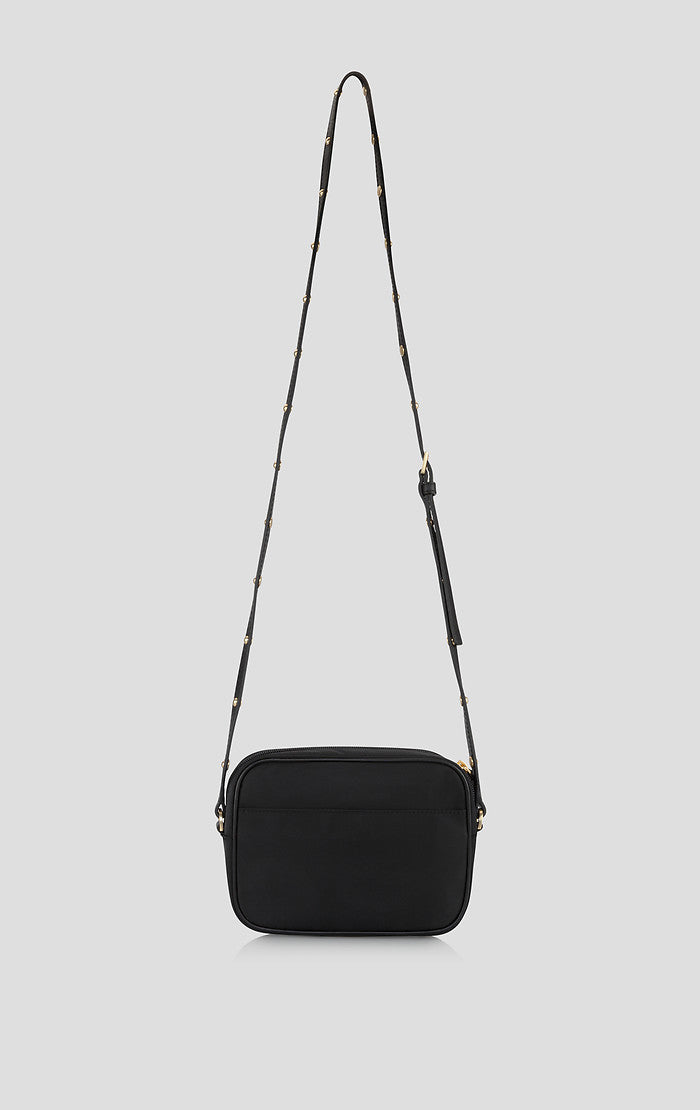 ESCADA Nylon and Leather Shoulder Bag
