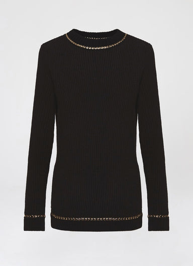 Knit Pullover with chain detail - ESCADA