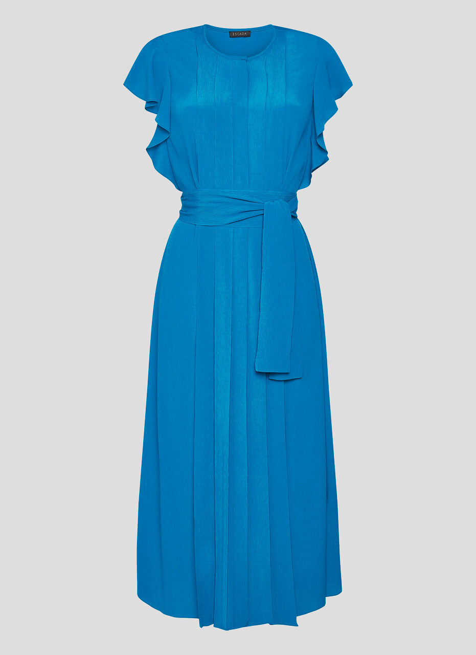 ESCADA Silk Blend Pleated Ruffle Dress
