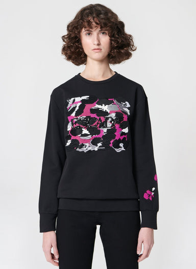 ESCADA Embroidered Logo jersey sweater