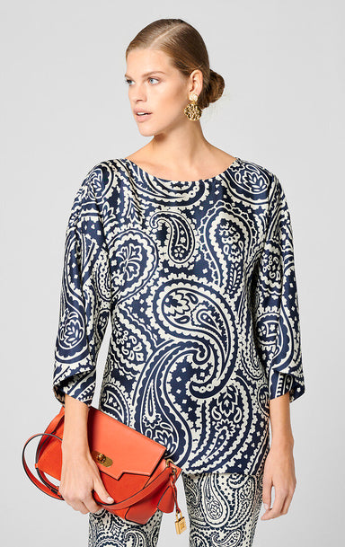 ESCADA Silk Paisley Print Top