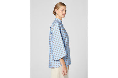Cotton Foulard Print Blouse - ESCADA