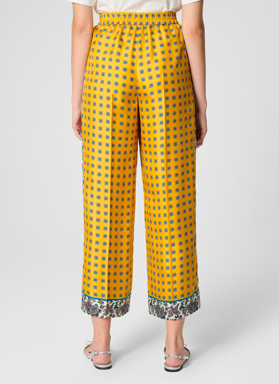 ESCADA Silk Foulard Wide Leg Pants