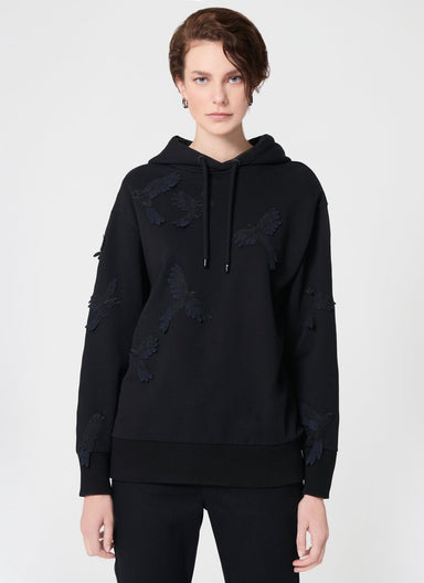 ESCADA Bird Lace Patched Sweatshirt