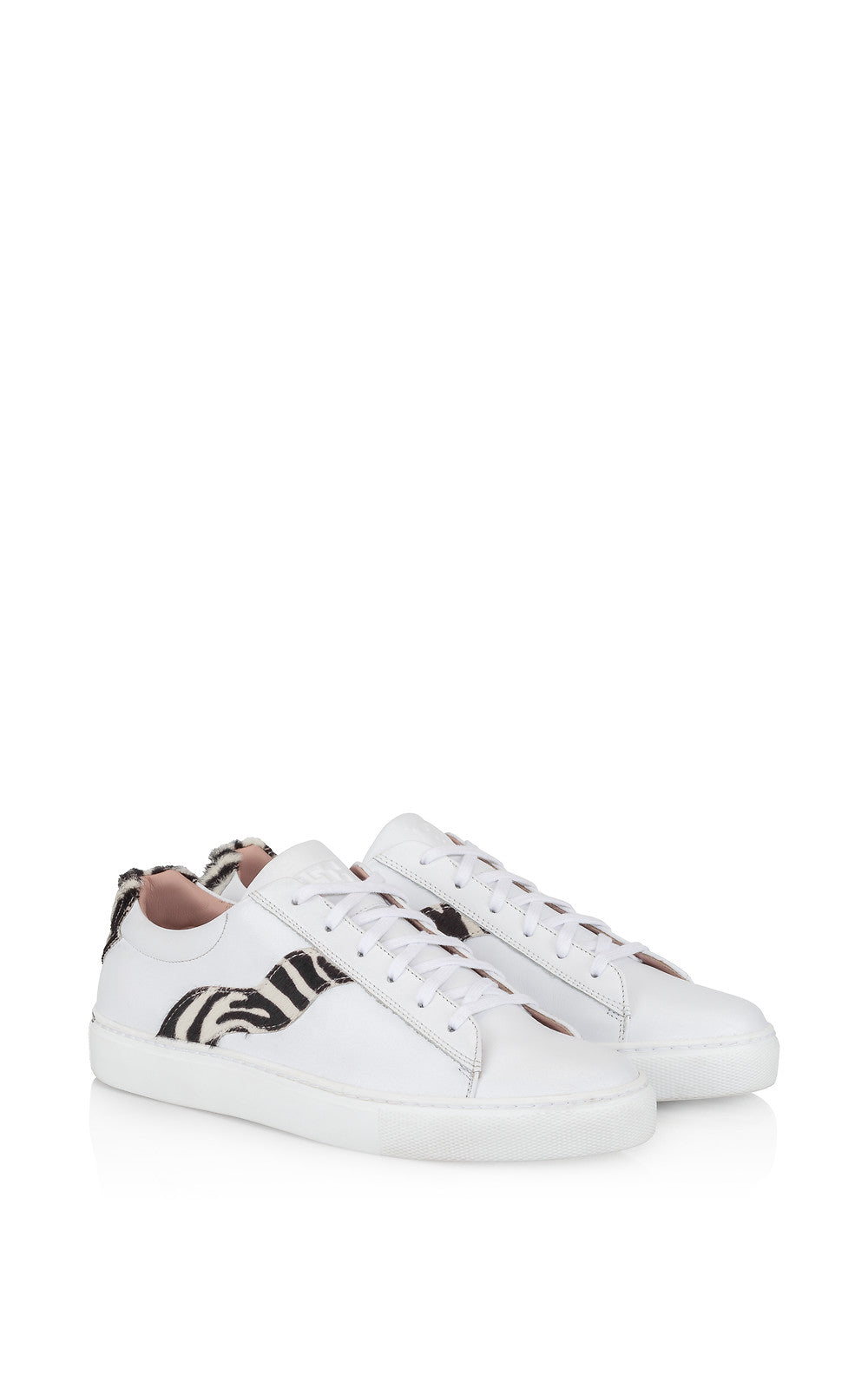 Leather and Calf Hair Sneakers - ESCADA