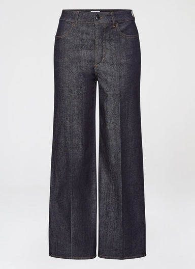 Fashionable Blue Cotton Stretch Denim - ESCADA