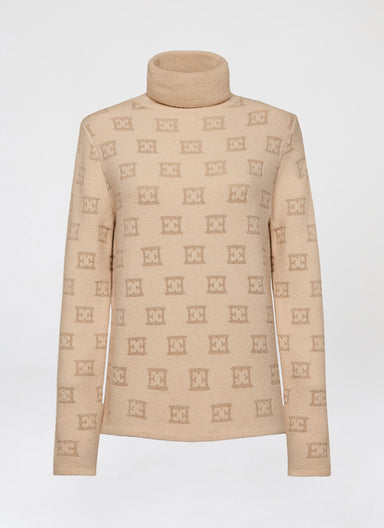 Turtleneck with ESCADA lurex Logo - ESCADA