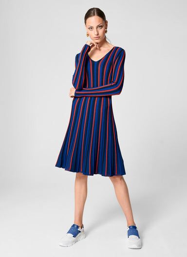 ESCADA Textured Stripe Knit Dress