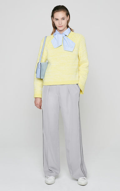 Side Stripe Wide Leg Pants - ESCADA