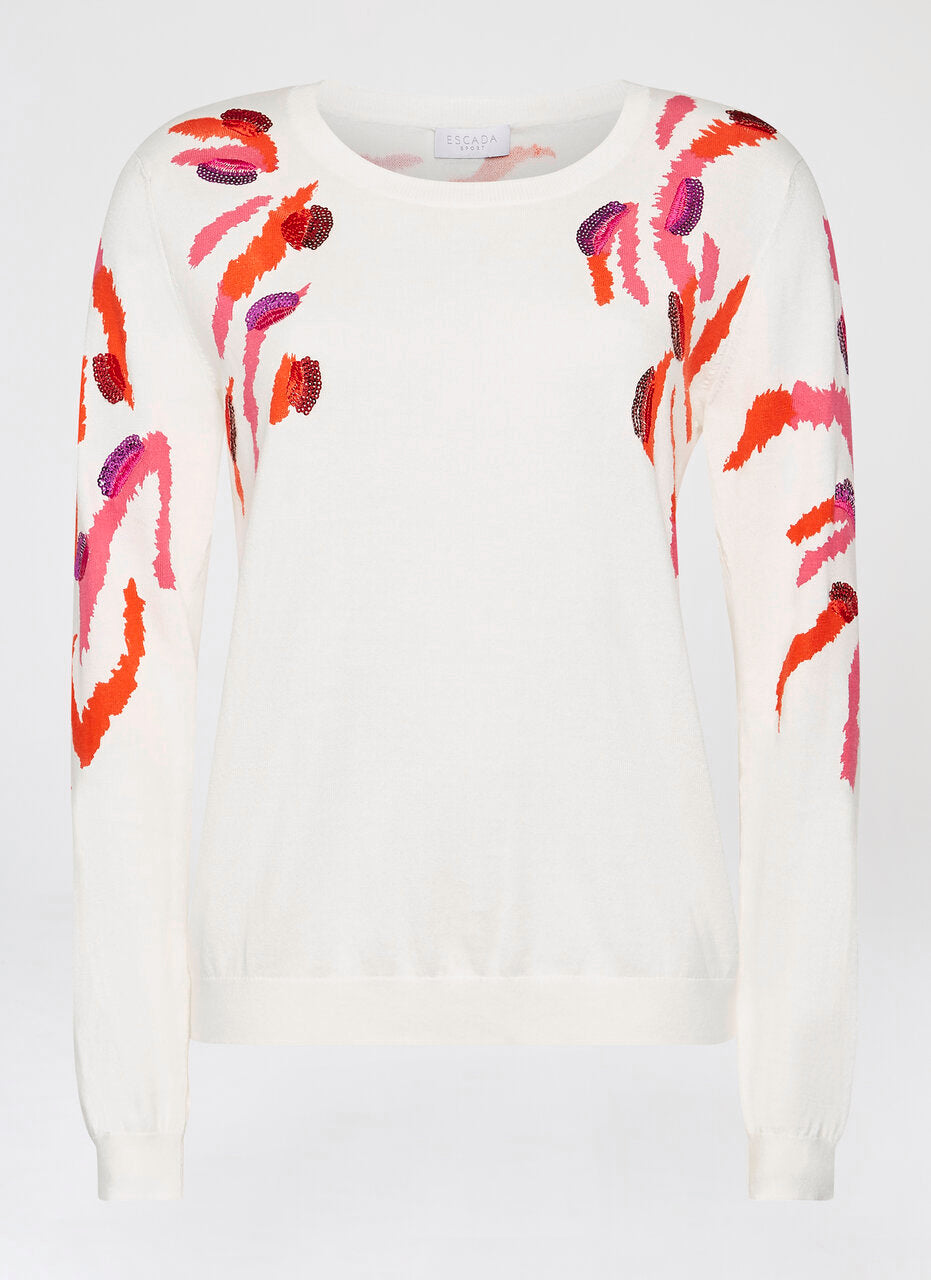 ESCADA Sequin-Embroidered Sweater