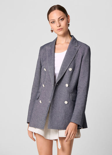 Cotton Linen Blazer