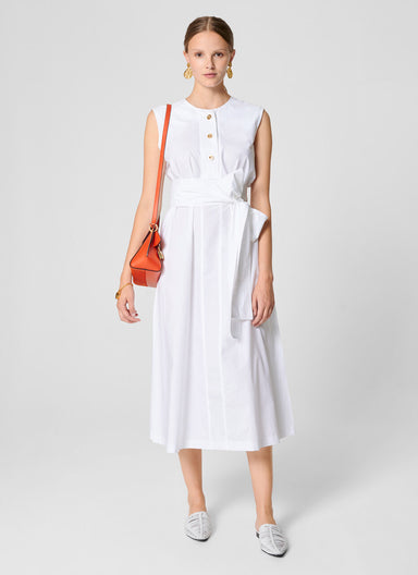 ESCADA Cotton A-line Midi Dress