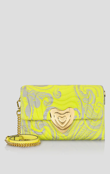 ESCADA Paisley Jacquard Heart Bag