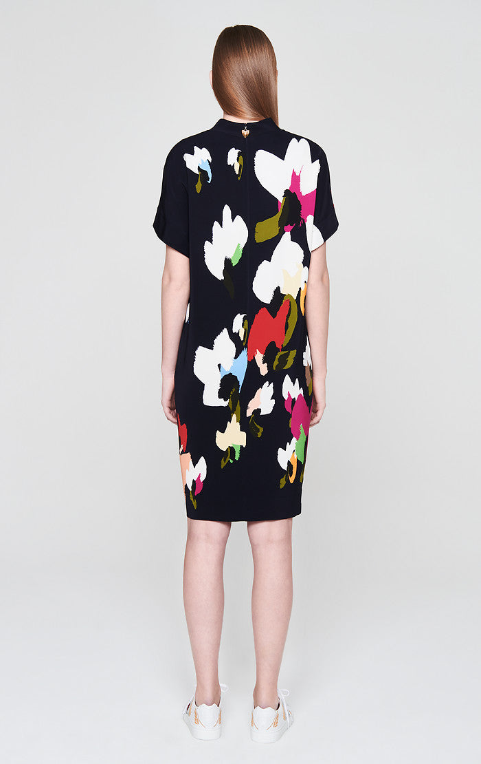 Satin Printed Dress - ESCADA