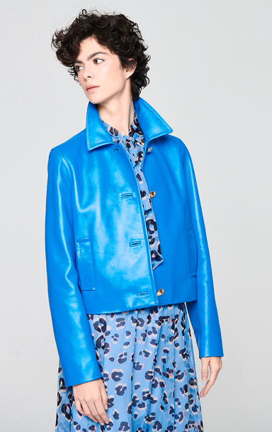 Leather Bomber Jacket - ESCADA