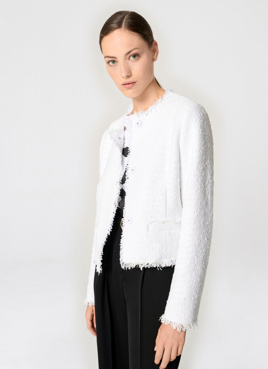 ESCADA Cotton Tweed Cropped Jacket