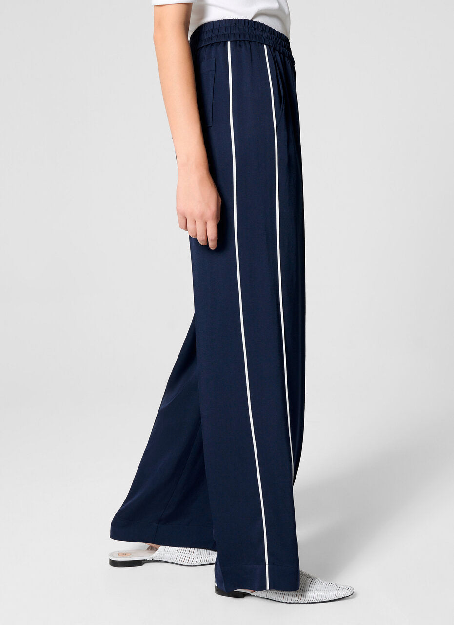 ESCADA Side Stripe Palazzo Pants