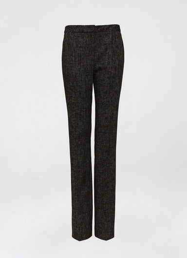 Business cotton mix pant in check optic - ESCADA
