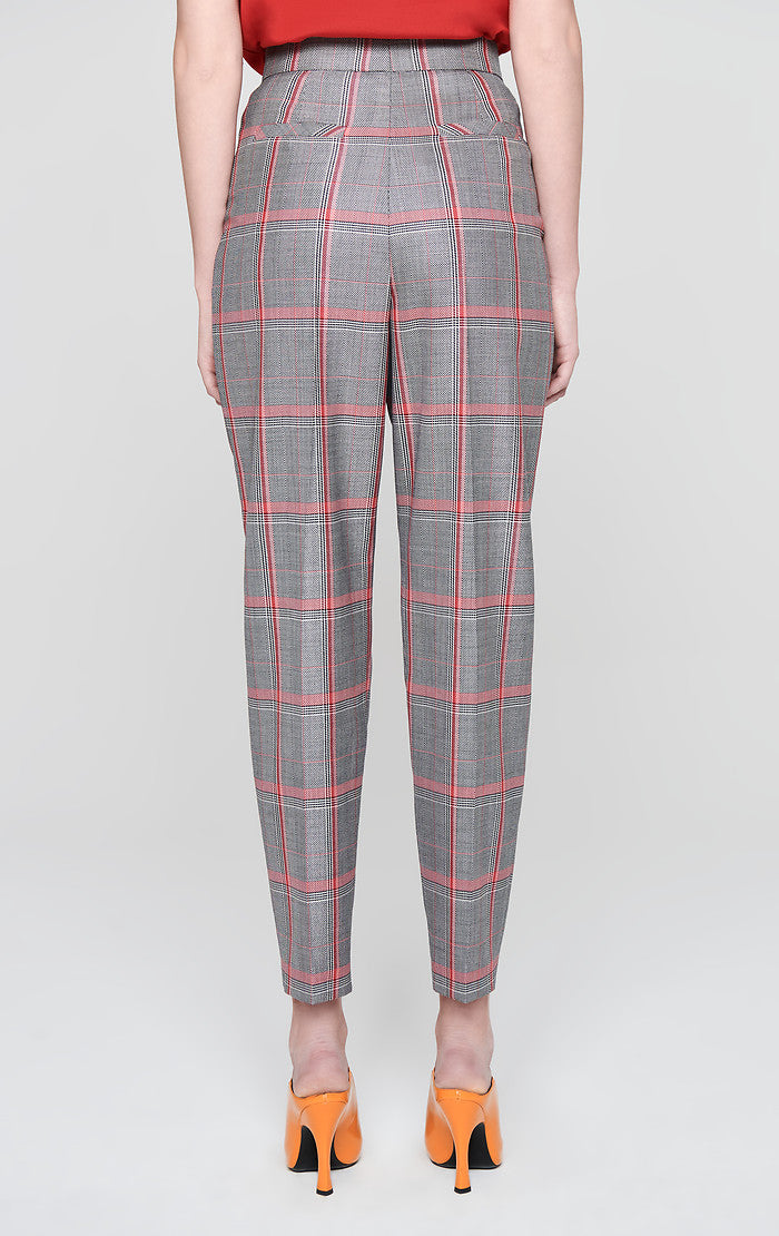 Wool Check Ankle Pants - ESCADA