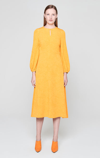 Jacquard Puff Sleeve Dress - ESCADA
