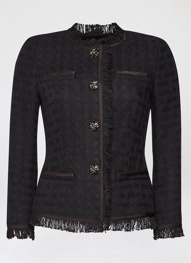 ESCADA Highlight cotton tweed jacket