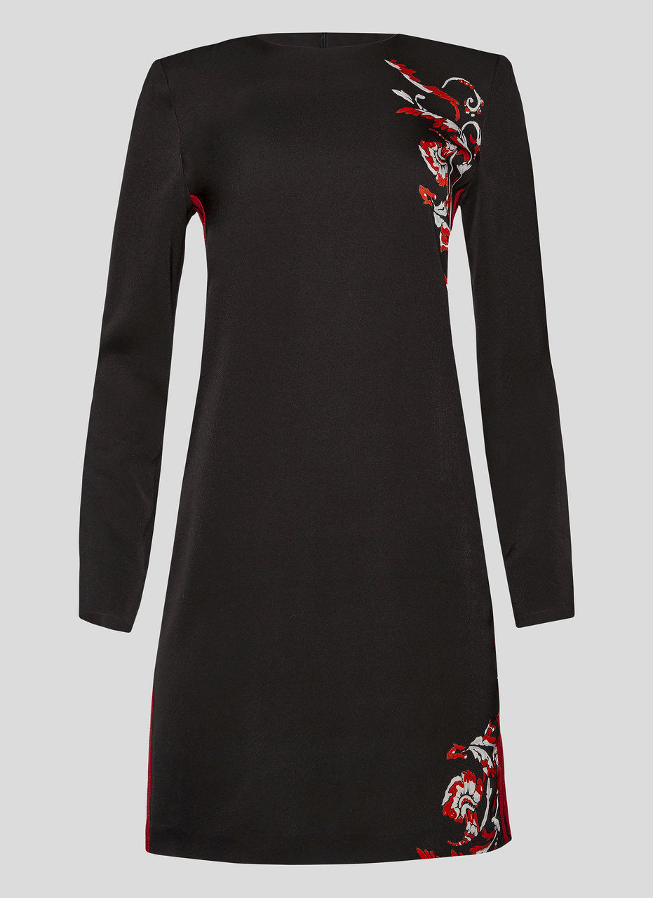 ESCADA Crepe Printed Longsleeve Dress