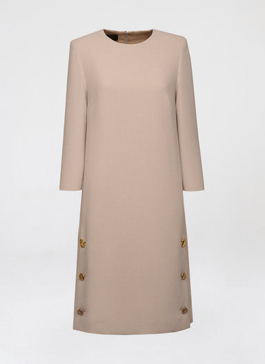 T-Shirt dress in wool crepe - ESCADA