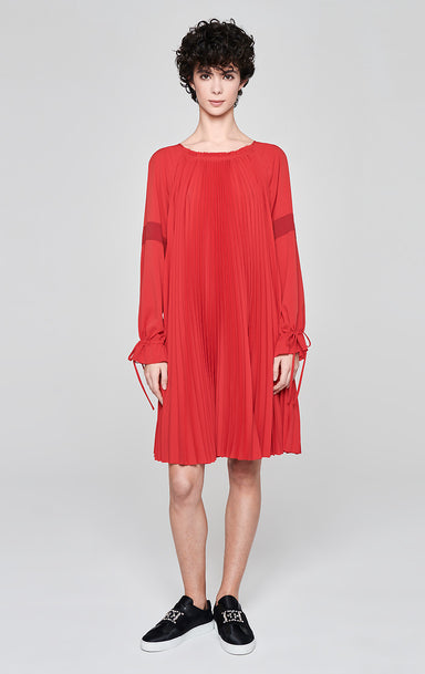 Plissé A-line Dress - ESCADA