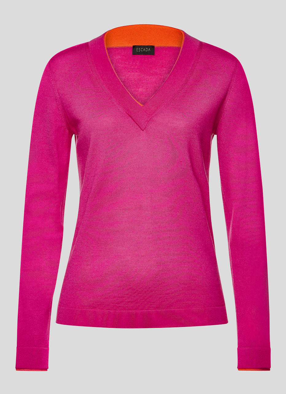 ESCADA Virgin Wool V-Neck Sweater