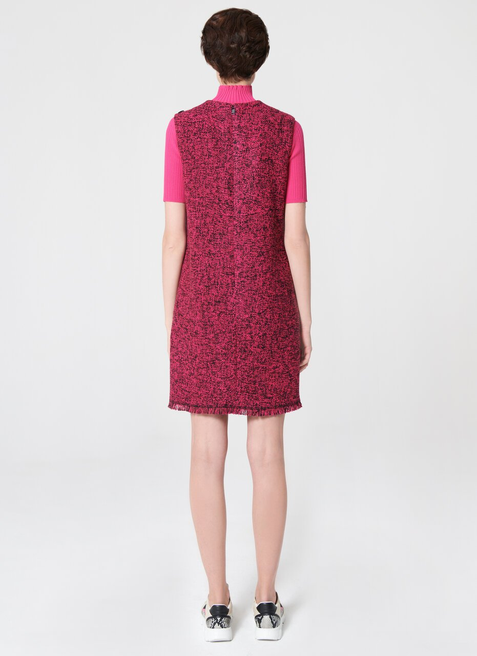 ESCADA Wool Tweed Shift Dress