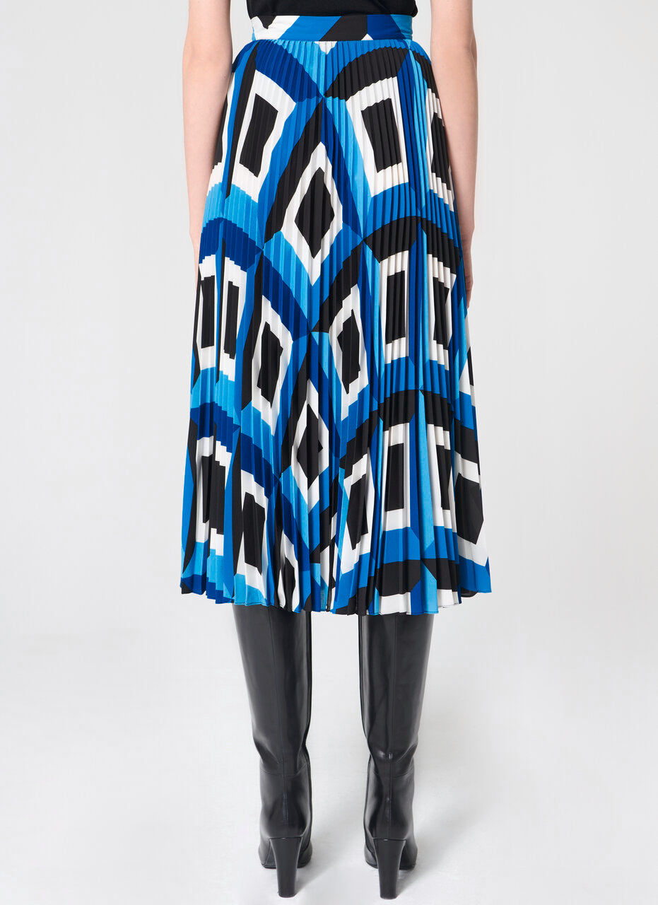 Graphic printed plissée skirt - ESCADA