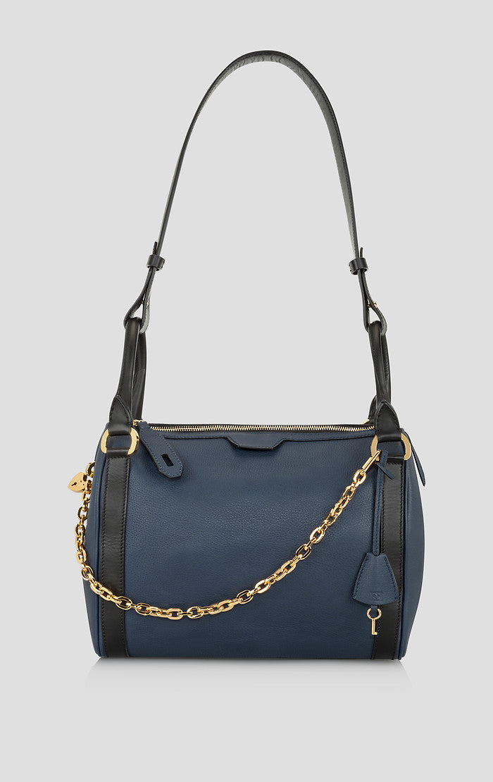 ESCADA Leather Chain Trim Shoulder Bag