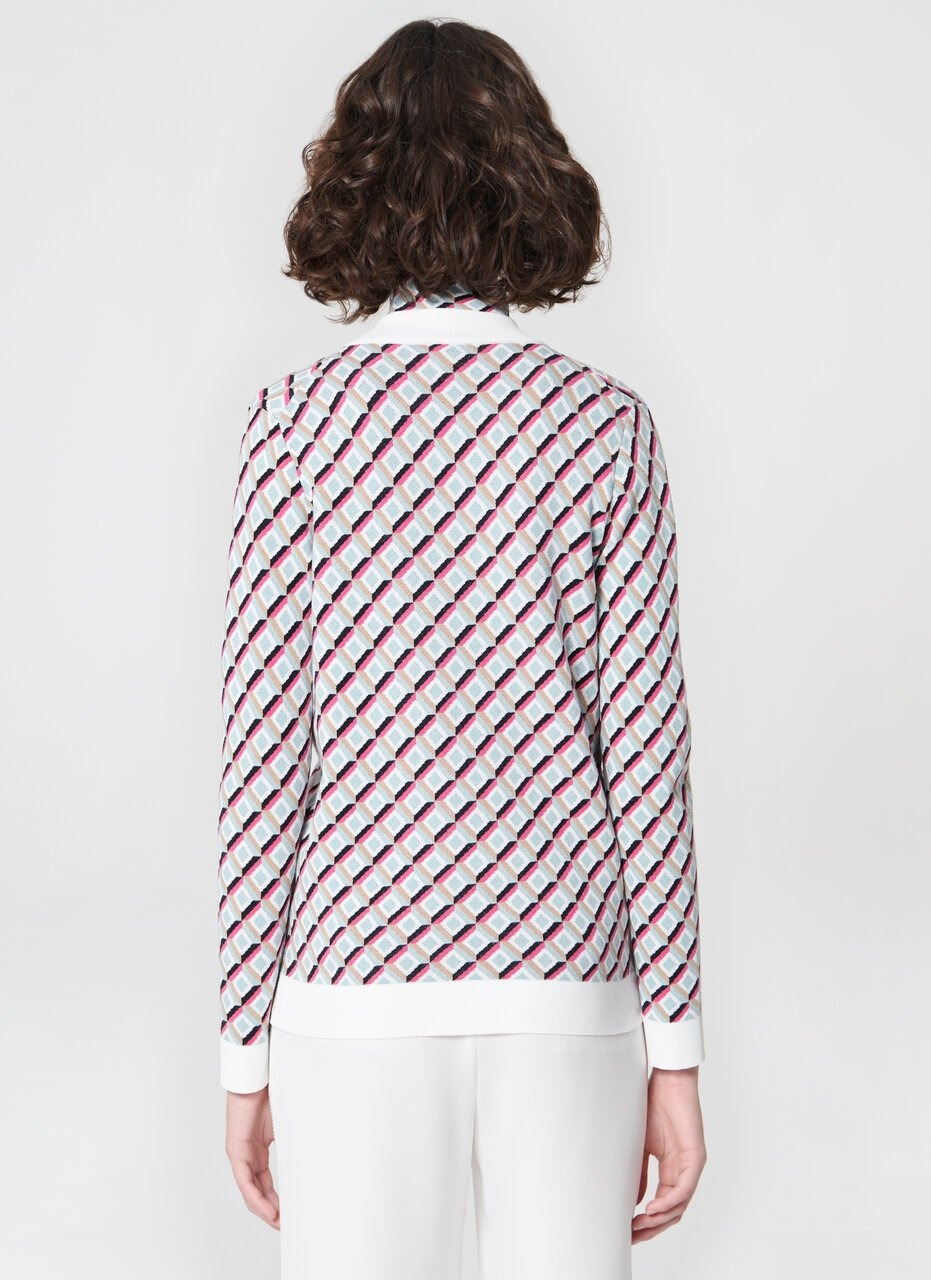 Knit jacquard cardigan - ESCADA