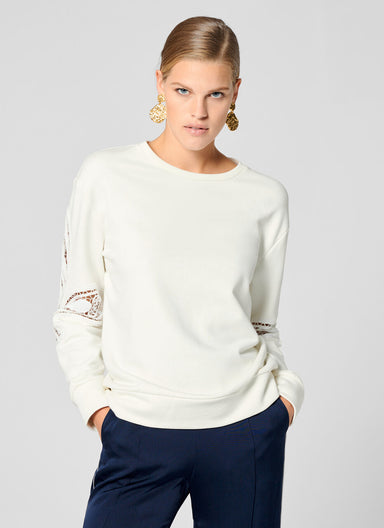 ESCADA Paisley Embroidered Sweatshirt
