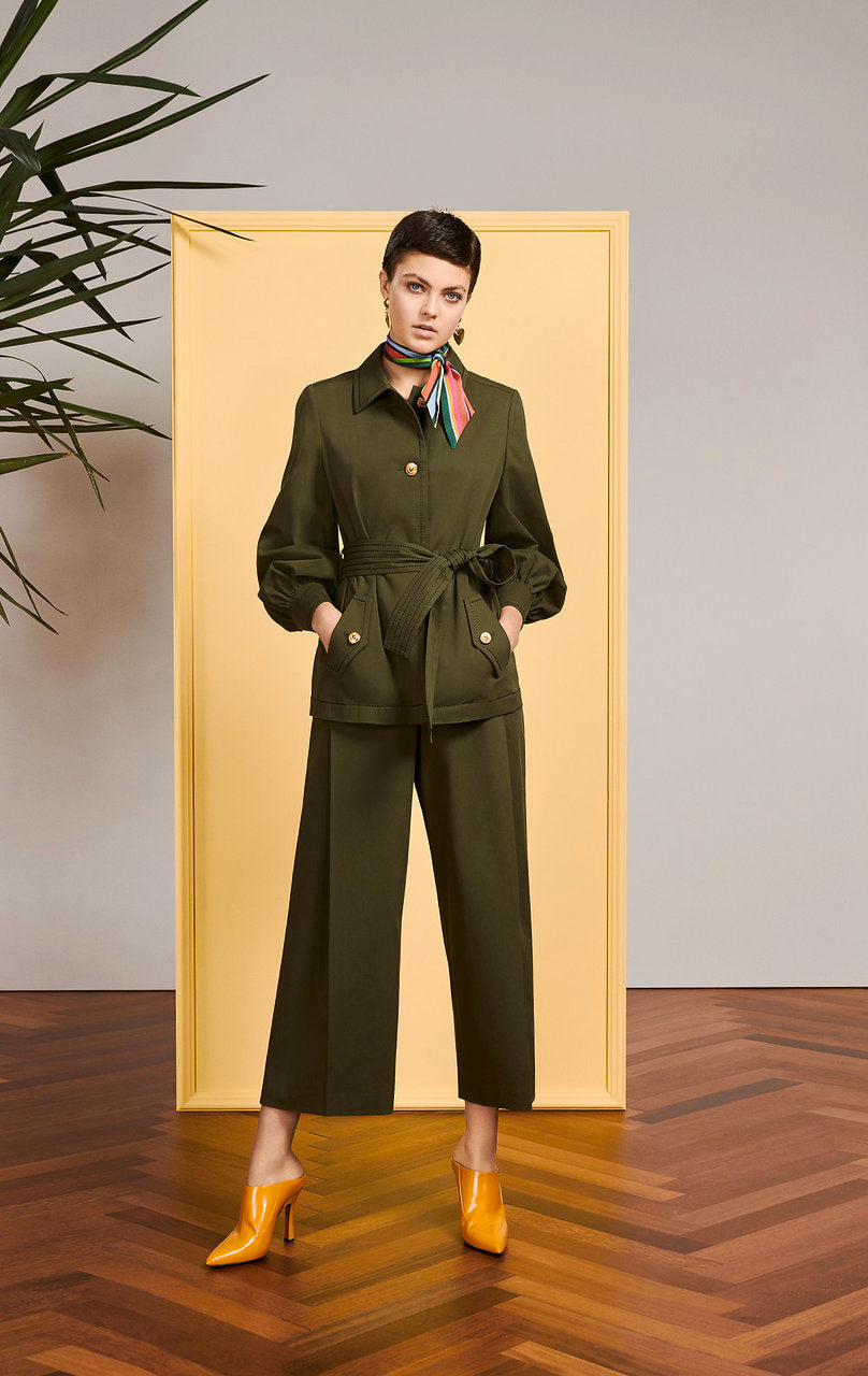 Cotton Belted Utility Jacket - ESCADA