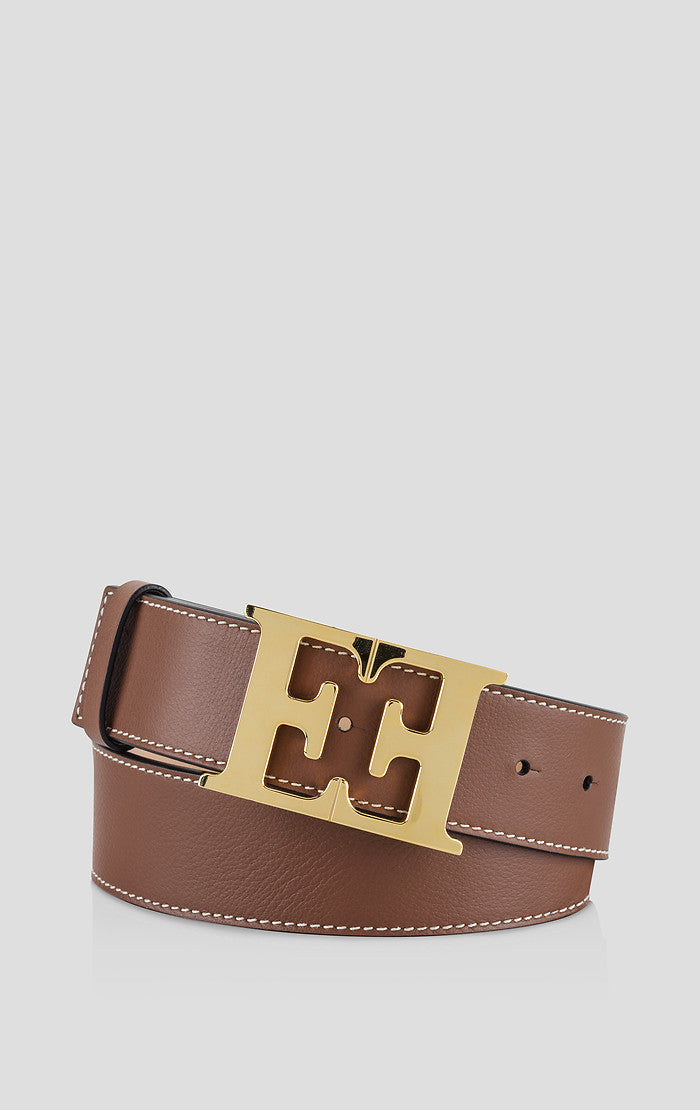 ESCADA Leather Monogram Belt