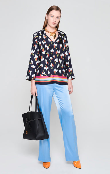 Silk Printed Tie-Neck Blouse - ESCADA